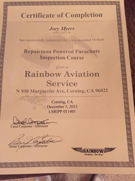 Completed the 16 hr Repairmans Course - Avidfoxflyers General Hangar ...